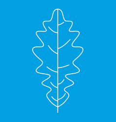 Oak leaf icon outline style vector