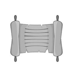 Paper scroll icon black monochrome style vector image
