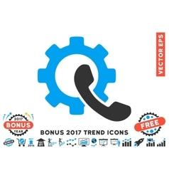 Phone configuration flat icon with 2017 bonus vector