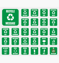 recycle symbols set vector image vector image