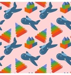 Retro children toys seamless pattern vector image vector image