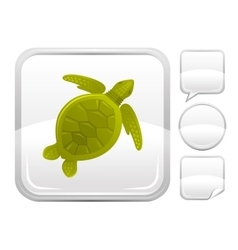 Sea summer beach and travel icon with sea turtle vector