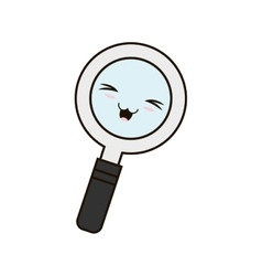Search magnifying glass isolated icon vector