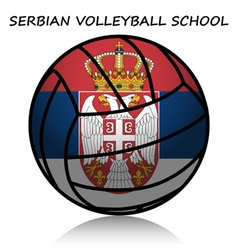 Serbian volleyball school vector image vector image
