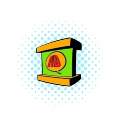 Stand advertising icon comics style vector