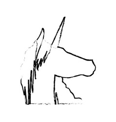 Unicorn legendary mythical creature icon vector