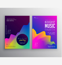Vibrant abstract music party event flyer poster vector