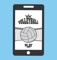 volleyball sport vector image vector image