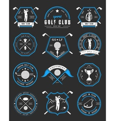 set of logos and icons golf clubs vector image