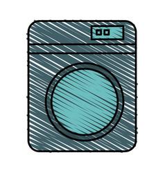 washer machine isolated icon vector image