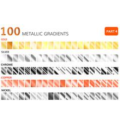 Metallic gradients big set golden vector