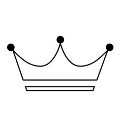 King crown isolated icon vector