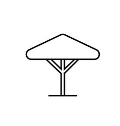 Street umbrella icon vector