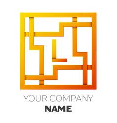 letter l symbol in the colorful square maze vector image