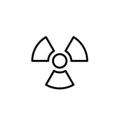 radiation icon black on white background vector image