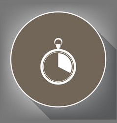 The 20 seconds minutes stopwatch sign vector