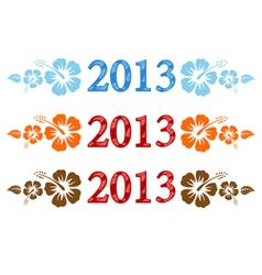 2013 aloha vector image vector image