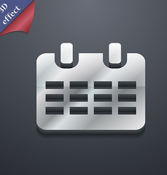 Calendar date or event reminder icon symbol 3d vector