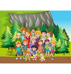 Family and park vector image