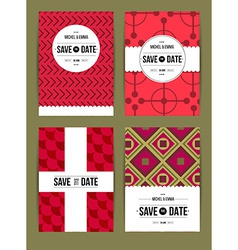 Invite template set vector