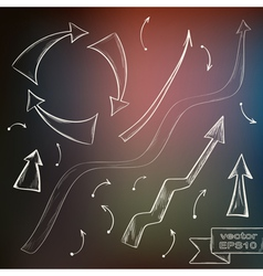Hand drawn doodle arrow set vector