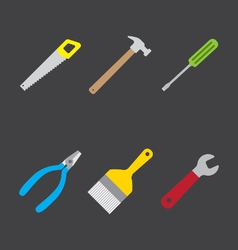 Tools icon flat style vector