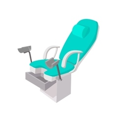 Medical gynecological chair cartoon icon vector