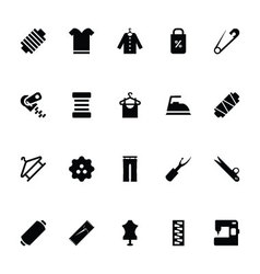 Sewing icons 5 vector