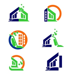 Home cleaning logo and apps icon vector