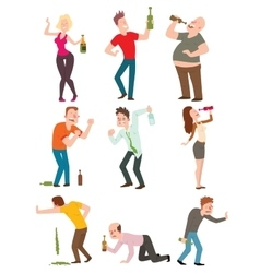 Drunk people vector