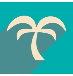 Flat with shadow icon and mobile application palm vector