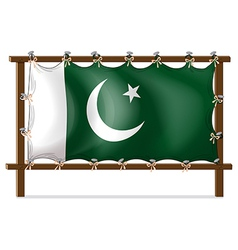 A wooden frame with the flag of Pakistan vector image vector image
