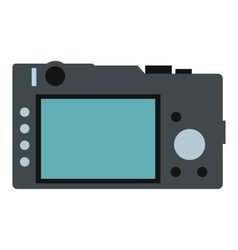 Back of the camera flat icon vector