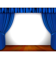 Blue Curtain vector image