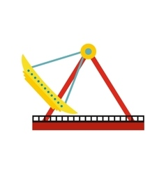 Boat carousel icon vector