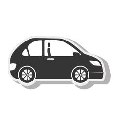 Car black coupe transport design vector