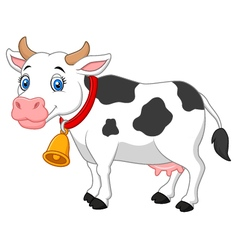 Cartoon happy cartoon cow vector