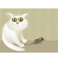 Cat hunter vector image vector image