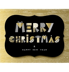 Christmas and New Year gold quote greeting card vector image
