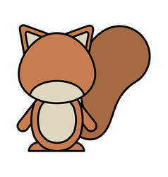 Cute chipmunk woodland animal vector