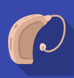 Hearing aidold age single icon in flat style vector