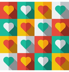 Hearts in flat icon style vector image vector image