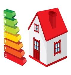 Home insulation efficiency2 resize vector image vector image