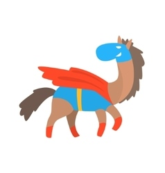 Horse Smiling Animal Dressed As Superhero With A vector image vector image
