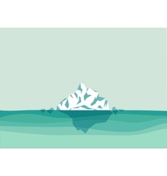 Iceberg in the ocean vector image vector image