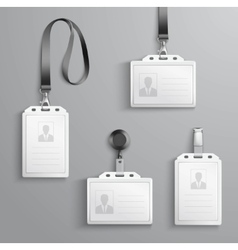 Identification cards set vector
