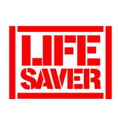 Life saver typographic stamp vector