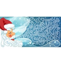 Merry Santa Claus i vector image vector image