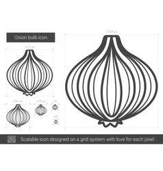 Onion bulb line icon vector