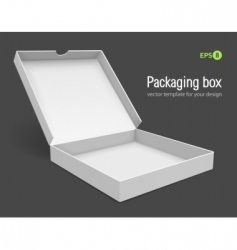 open packing box for pizza vector image vector image